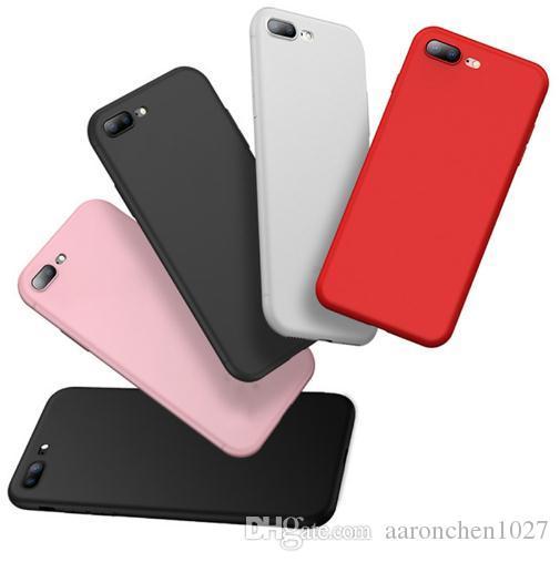 47e3381427b Carcasas Para Celulares Funda De TPU De Silicona Mate Color Caramelo Para  IPhone XS Funda XR 7 8 Plus 6 6s X 5 5s SE Cubierta Transparente  Antihuellas ...