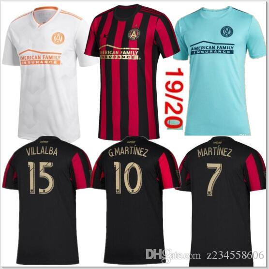 new product b0b34 25e07 New MLS 2019 Atlanta United soccer jersey 19 20 GARZA JONES VILLALBA  MARTINEZ BARCO MARTÍNEZ ALMIRON FC Atlanta Parley football shirt