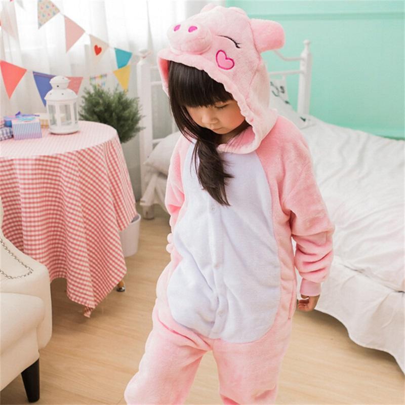b0fc828dab78 Compre Animal Cosplay Kigurumi Pig Pijama Pink Onesie Precioso Dibujo  Animado Animal Cosplay Fiesta De Invierno Pijama Ropa De Dormir Franela  Suave Lindo ...