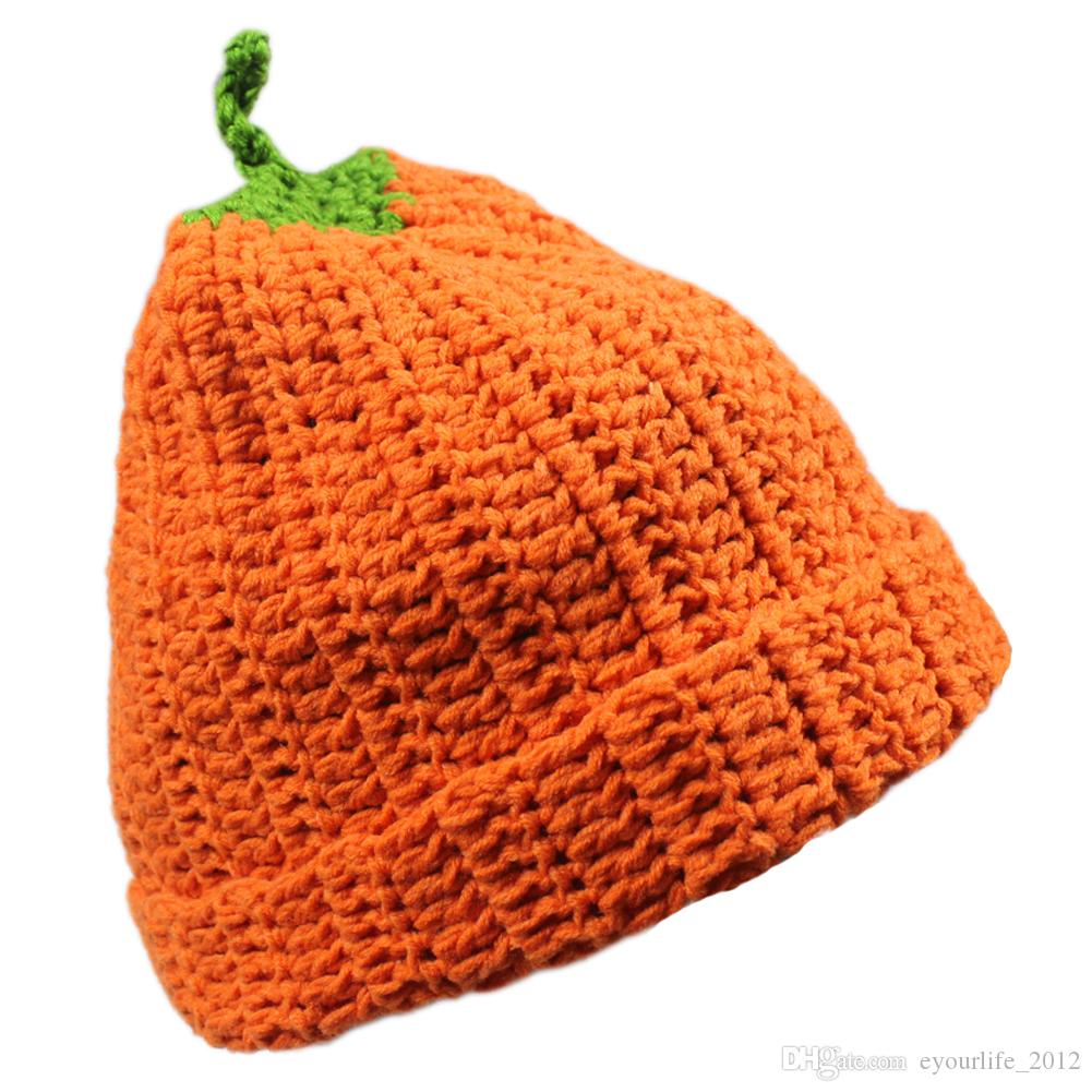 Unisex Adults Womens Mens Winter Costume Knitted Crochet Pumpkin Skiing Snowboarding Cosplay Halloween Beanie Hat Cap