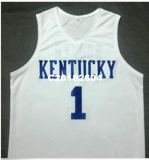 sale retailer 44d38 7b0ed Men #1 DEVIN BOOKER Kentucky Wildcats White College Vintage jersey Size  S-4XL or custom any name or number jersey