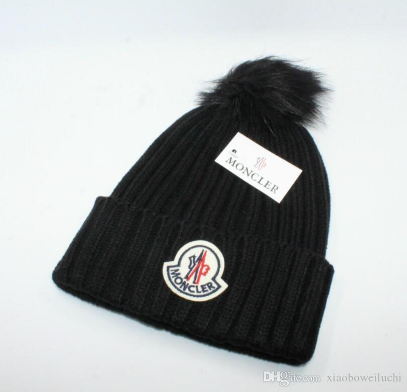a22155dc7b2e8 Luxury Winter Brand CANADA Men Beanie Fashion Designer Bonnet Women Casual  Knitting Hip Hop Gorros Pom Pom Skull Caps Outdoor Hats Cheap Hats Women  Hats ...