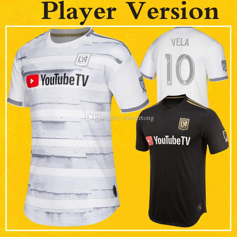 1095f500f 2019 Player Version LAFC Jerseys MLS 2019 Home Black Away White Soccer  Shirt Los Angeles FC ROSSI VELA 2020 More Free DHL Shipping From  Soccertong
