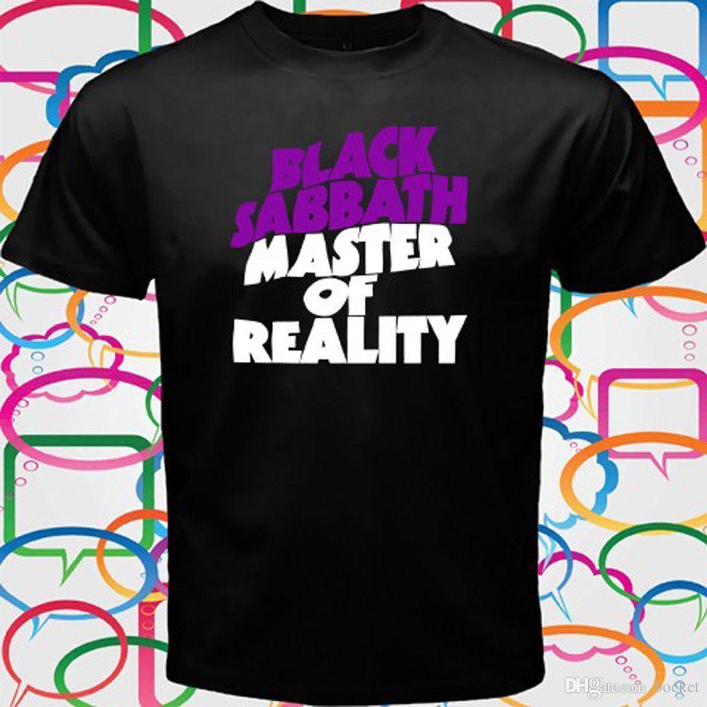 757f4425 BLACK SABBATH - MASTER OF REALITY Album Cover Men's Black T-Shirt Size S to  3XL