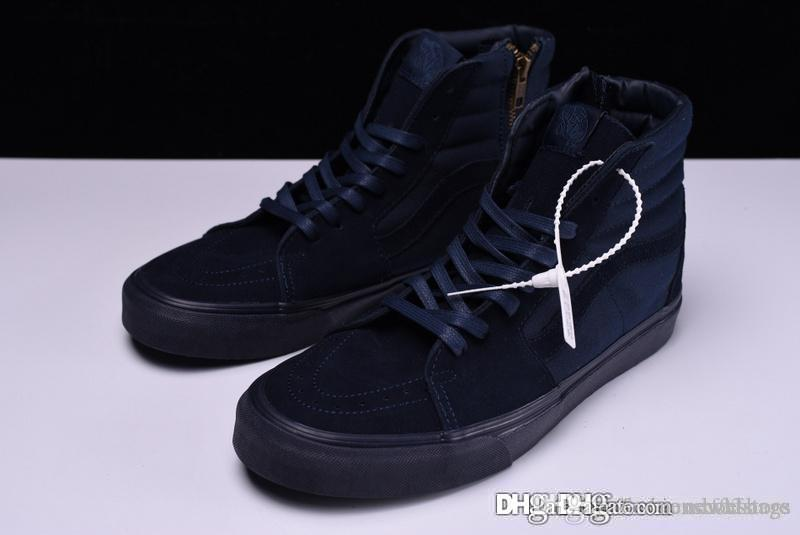 c828331e887e09 A AAA+ Quality Vas Sk8 Hi Reissue Zip Classics Mono Dress Blues MONO SP ZIP  V38C 556963 0001 With Original Box Pumps Shoes Munro Shoes From  Newxf02store