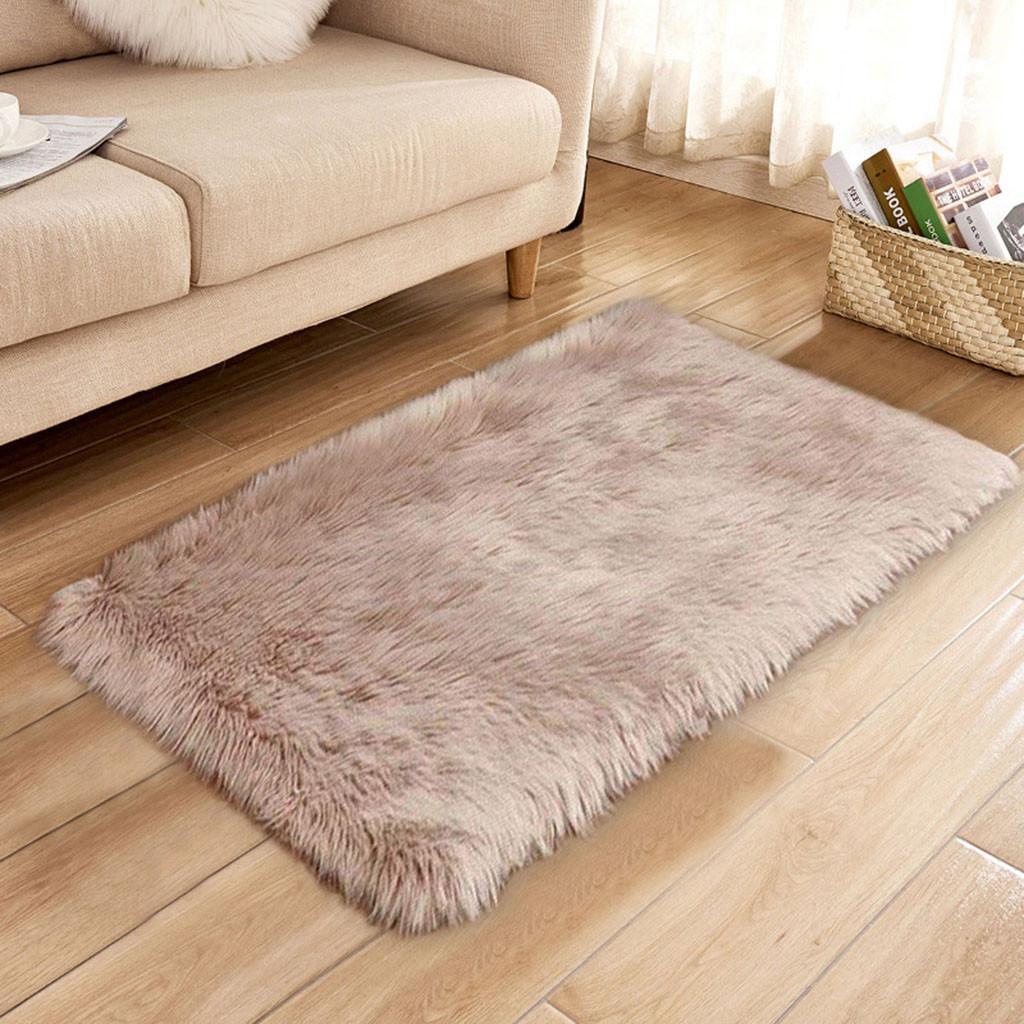 Tappeti di lana imitazione lana di pecora Tappeti di moquette Shaggy  antiscivolo