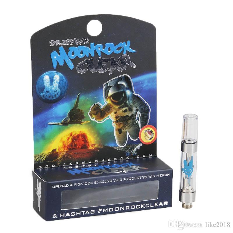 NUEVO MoonRock Clear Cartridge 1.0 ml 1 gramo de cerámica bobina Vape vaporizador Moon Rock Carts para 510 Thread Thick Oil Atomizer inteligente