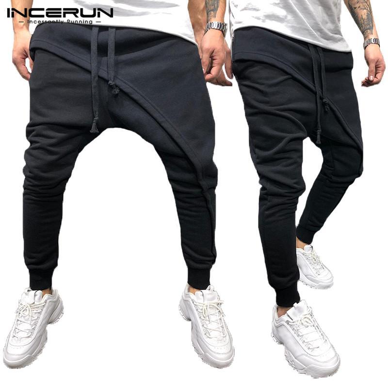 8e50065dee 2019 INCERUN Fashion Big Cross Pants Hiphop Pant Sporting Pant Harem Dance  Baggy Wide Legs Elastic Cuff Joggers Sweatpants Solid Big From Cfendou