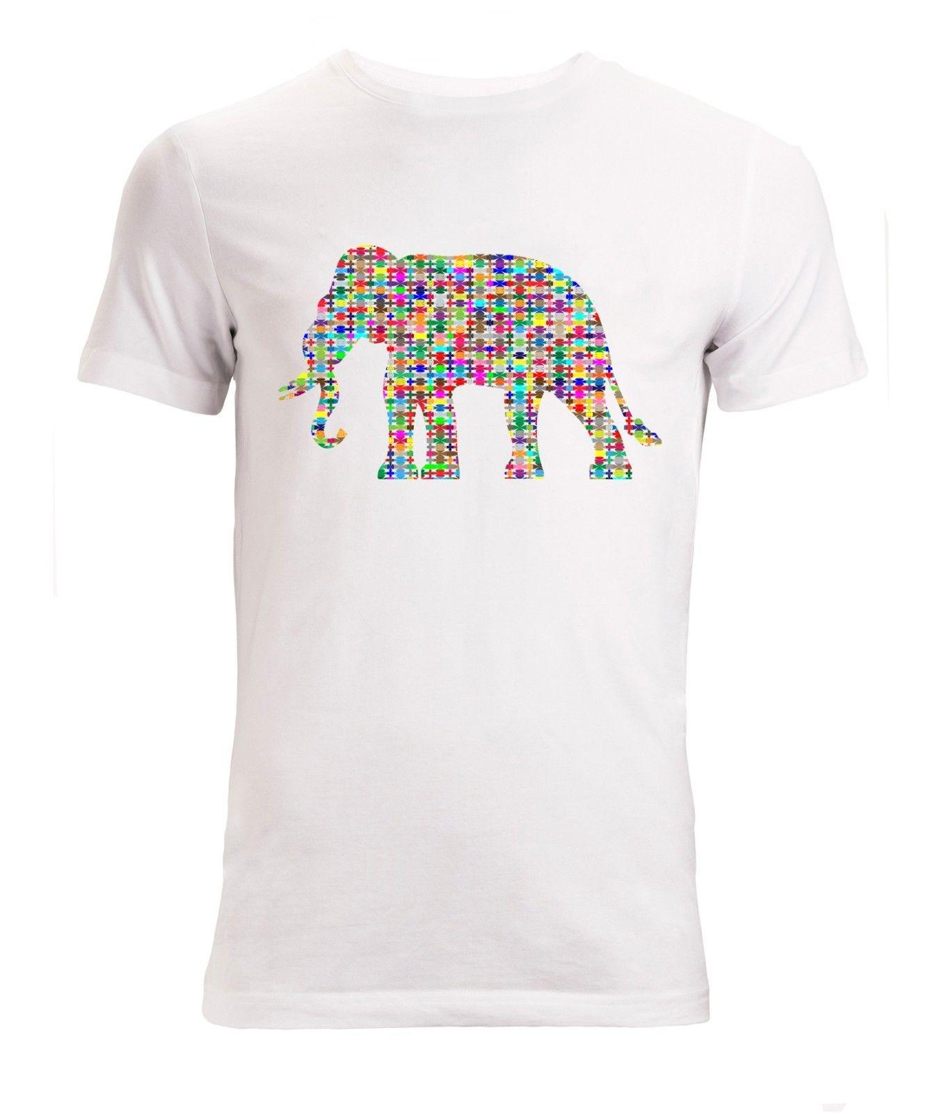 aac45087db301 Abstract Elephant Colorful Pattern Art Men S Woman S Available T Shirt  White Funny Unisex Casual Tshirt Top Funny Shirts Dress Shirt From  Culturepress