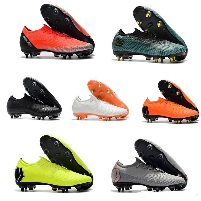 8cb6ef8646d4b Compre Botas De Fútbol De Tobillo Bajo Para Hombre Original CR7 Mercurial  Superfly VI 360 Elite SG AC Zapatos De Fútbol ACC VI Cristiano Ronaldo Tacos  De ...
