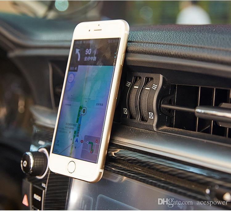 Car Mount Air Vent Magnetic Universal Cell Phone Holder Travel Stand Universal Accessory Plastic Support with 360 Degree Rotation