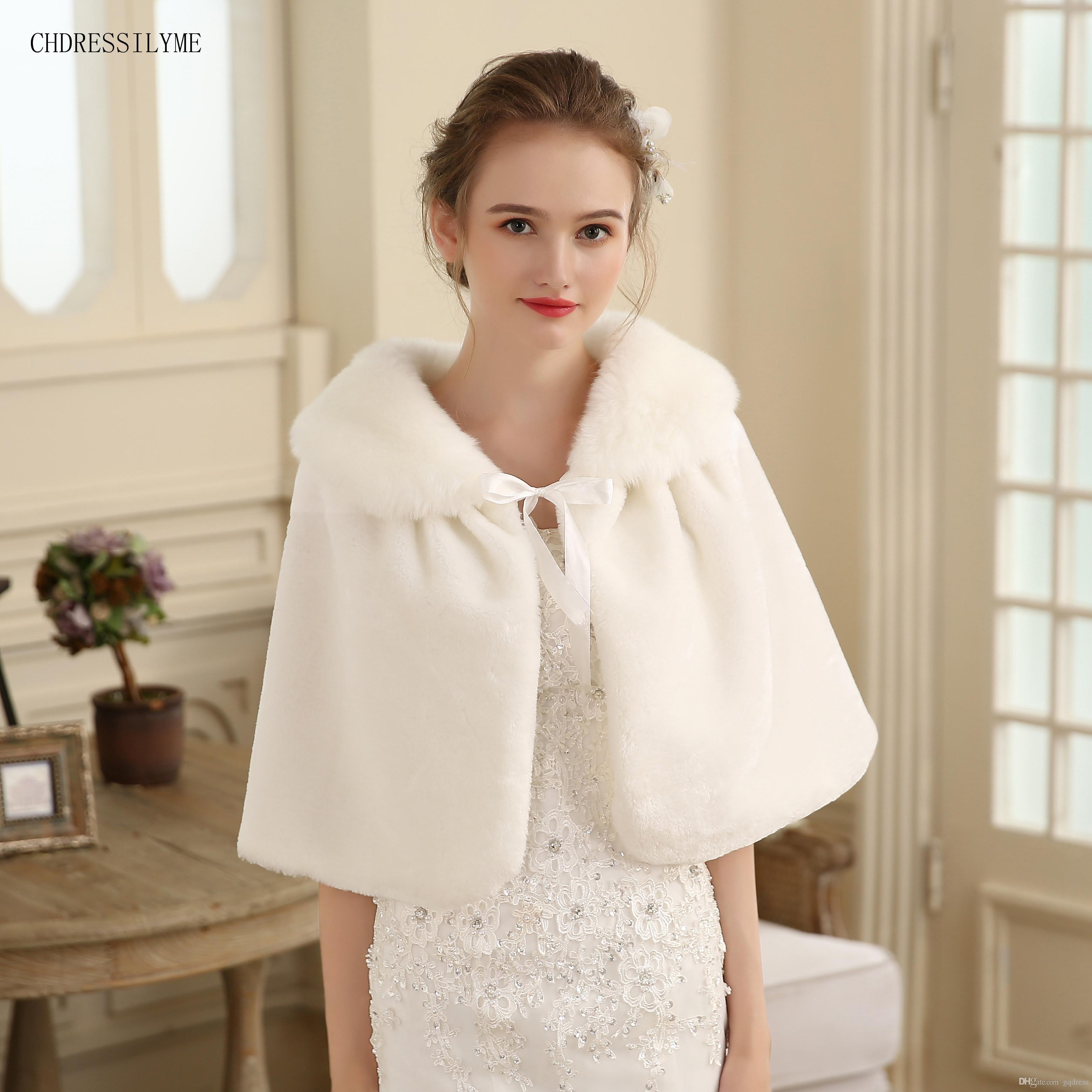 c79531fab Piel de la boda del abrigo de la piel de las mujeres Abrigos nupciales del  invierno Cálido Boleros de la chaqueta nupcial de la piel elegante abrigo de  ...