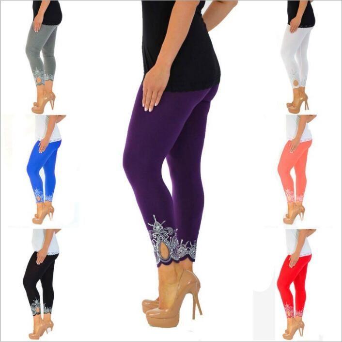 f1e04ef788d Leggings Women Clothes Slim Print Jeggings Sport Yoga Joggers Pants ...
