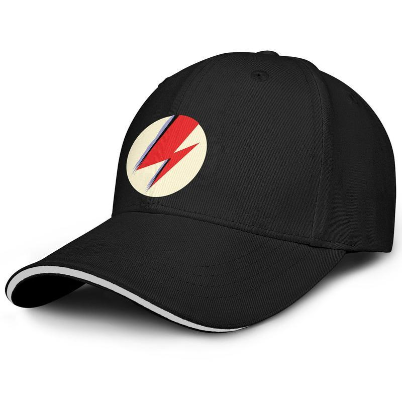 Hipster Men Women visor cap David-Albums-Bowie-Band-logo eleven number one custom baseball hats Low Profile hats 100% Cotton