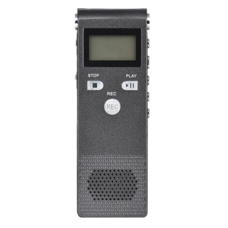 Professional Voice Audio Telephone Recorder Dictaphone 8Gb Mp3 Music Player Sound Active 384Kbps Supports Multi-Language for B