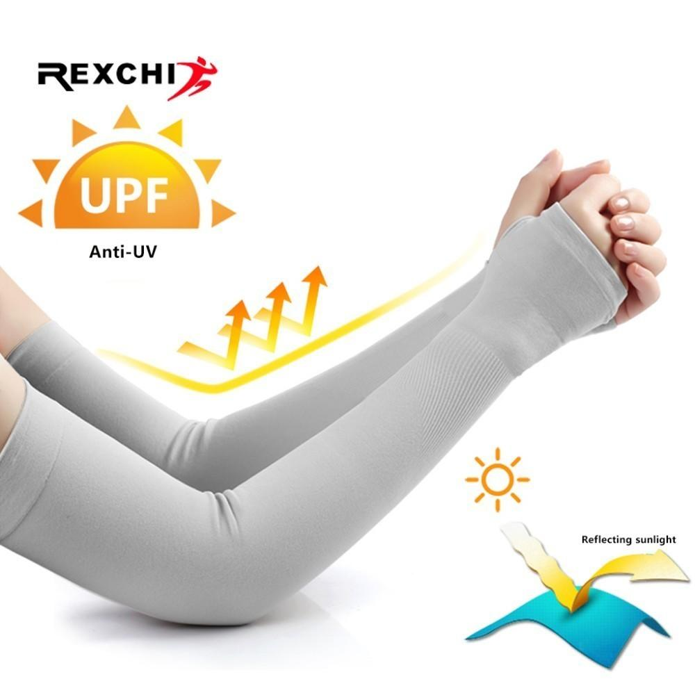 Ice Fabric Arm Sleeves Mangas Warmers Summer Sports Uv Protection Running Cycling Driving Reflective Sunscreen Bands Back To Search Resultssports & Entertainment Running Arm Warmers