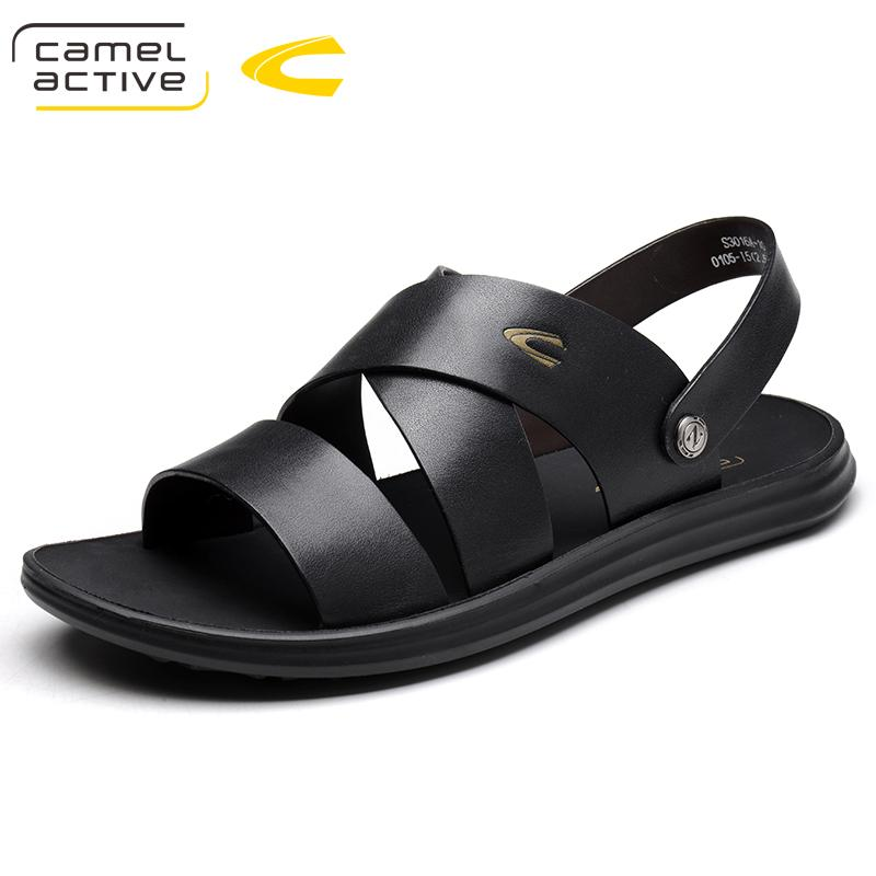 af6d8adce3aa Camel Active Men Genuine Leather Sandals Summer Wading Beach Shoes Handmade  Slippers Leather Casual Shoes Flip Flops Plus Size Skechers Sandals Sexy  Shoes ...