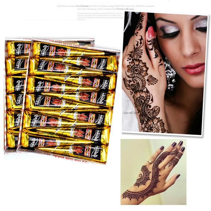 Kit Henna Tattoo Black Ink Brands Temporary Tattoos Long Lasting ...