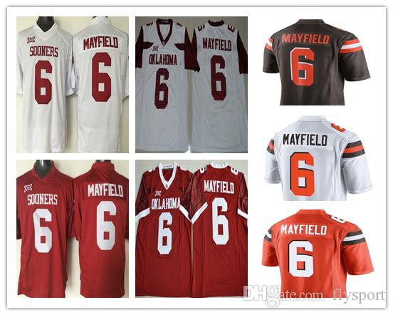 235c3d9e1de 2019 Mens 2018 NCAA Heisman Jersey Oklahoma Sooners #6 Baker Mayfield Red  White Limited Stitched College Football Jerseys From Flysport, $19.41 |  DHgate.Com