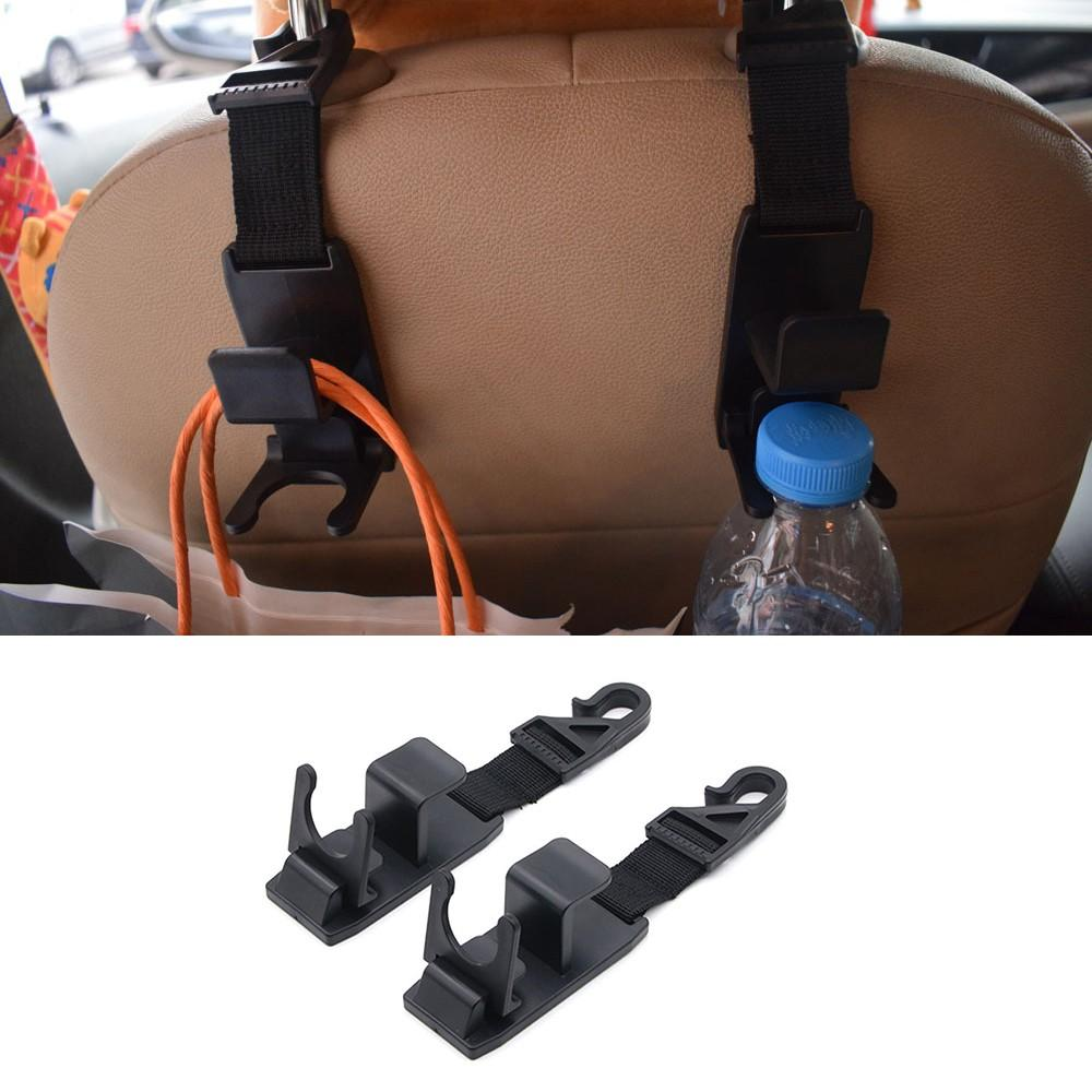 Universal Vehicle Car Backseat Headrest Hanger Storage Organizer wall hooks hanger kitchen bathroom car suction cup home stuff