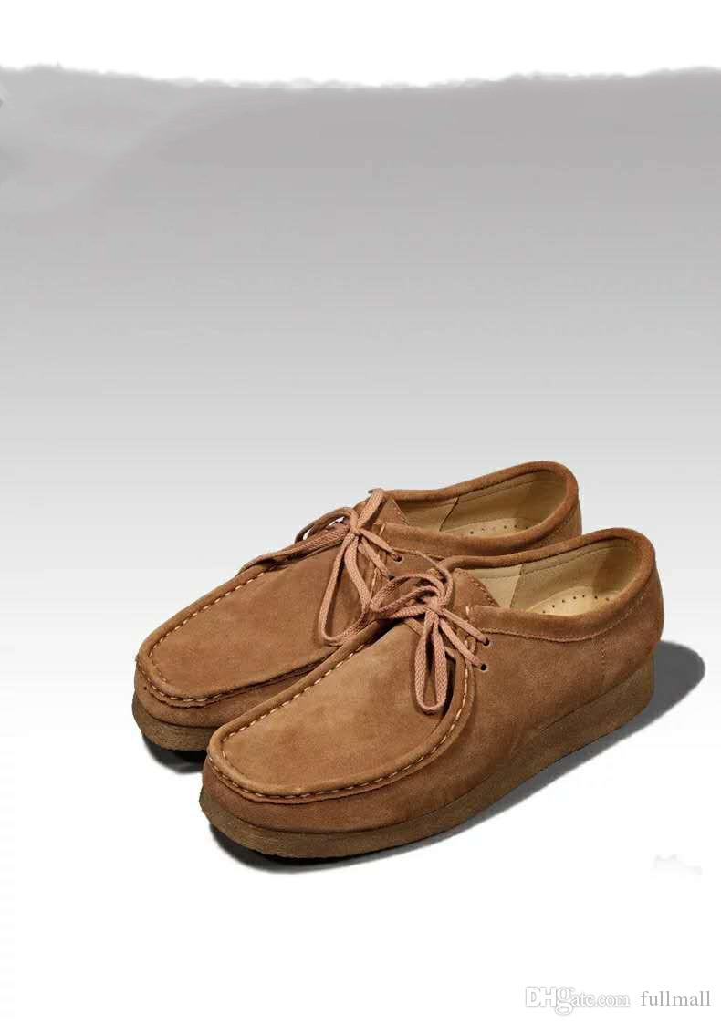 Best Tco kangaroo shoes men's low help Wallabee boots Vintage England wind casual raw rubber men's shoes 39-44