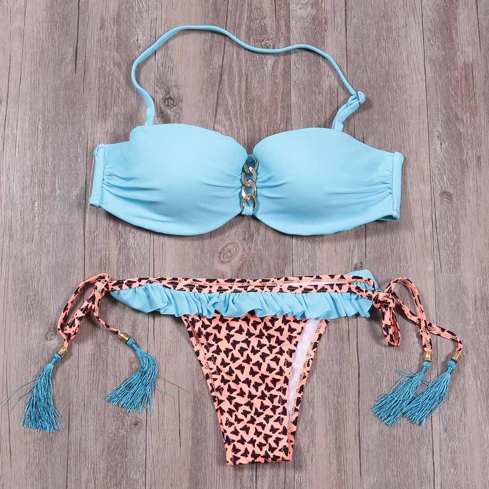 50408172cf Sexy Bikini Push Up Brazilian Style Swimwear Women Swimsuit 2019 New  Arrival Retro Beachwear Bathing Bikinis Swimwear Biquini