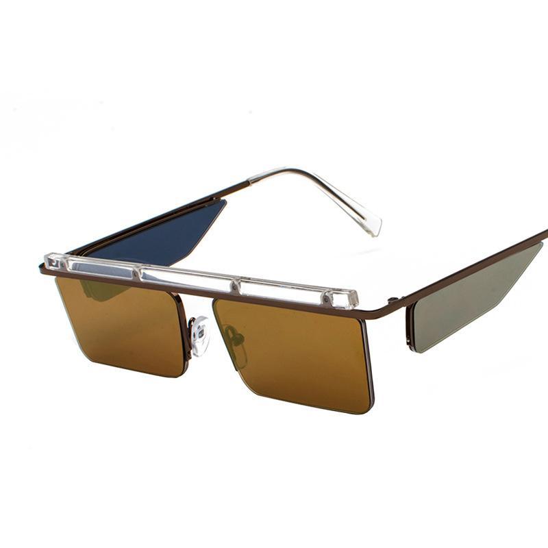 f00bc69158 2019 Fashion Trend Men Women Sunglasses Metal Rectangle Vintage Sunglasses  UV400 Eyewear 4 Lenses Anti Reflective Mirror Glasses Round Sunglasses Cheap  ...