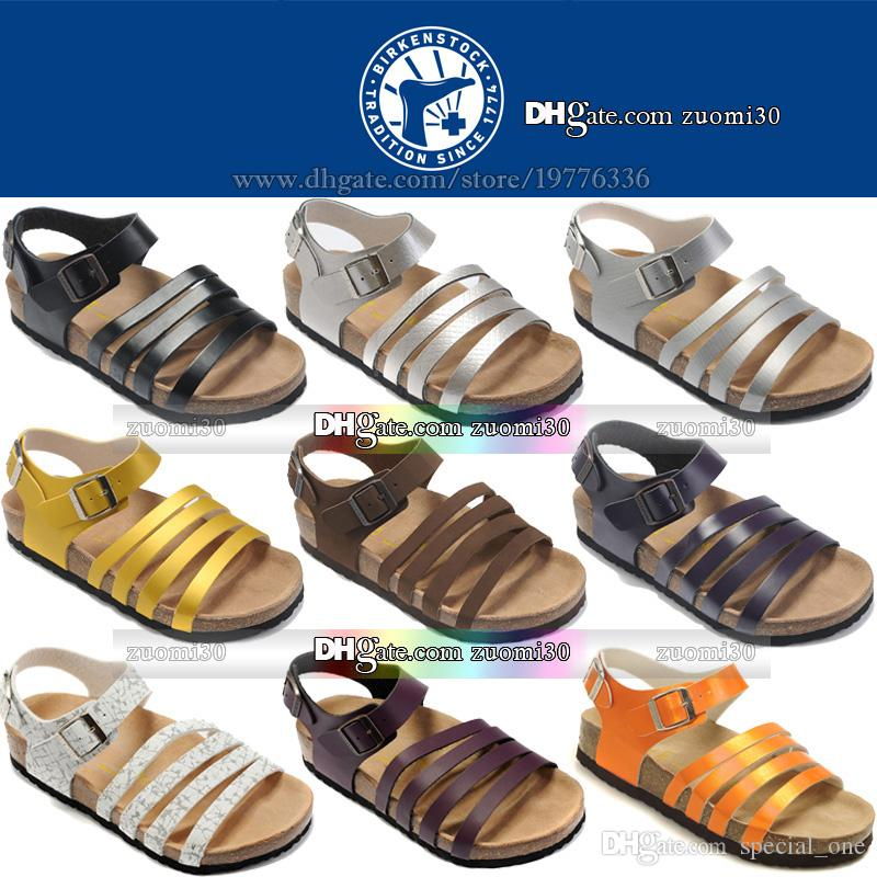 dbc63abdba6c Original Birkenstocks Fashion Sandals For Girls Flat Platform Women ...