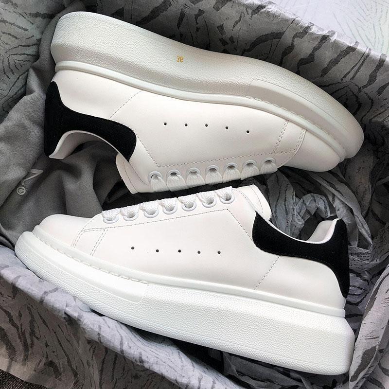 Pelle Sneakers Scarpe Alexander In Black White Mcqueen