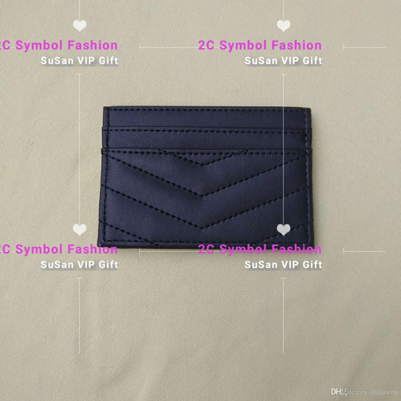 Striped pattern fashion brand mini wallet ID card holder fashion store bag counter gift plastic bag