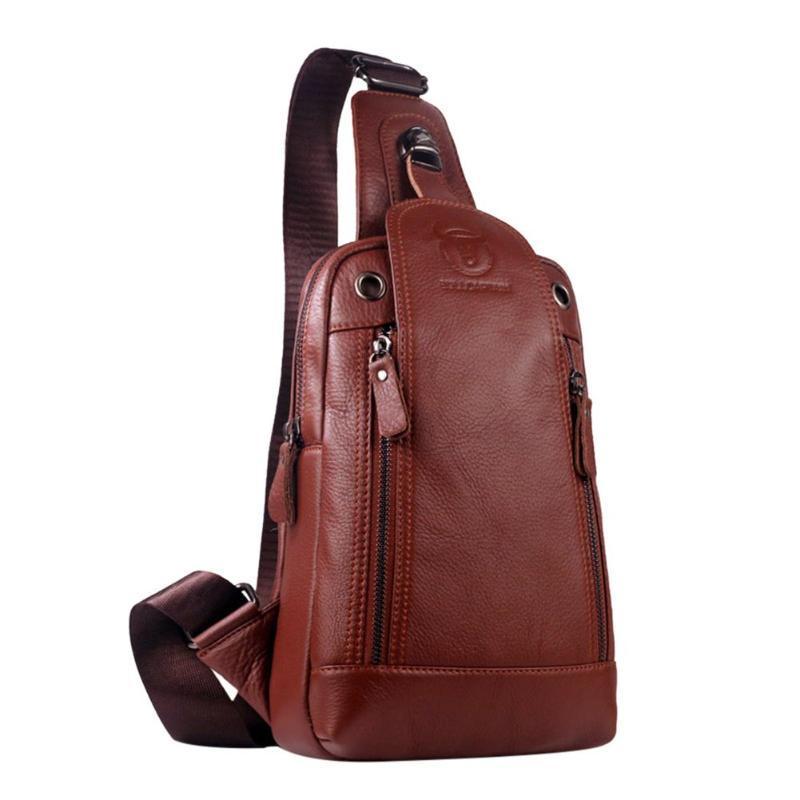 7ca1511d4714 ... Men Genuine Leather Bags Cowhide Vintage Sling Chest Back Day Pack  Travel Fashion Crossbody Messenger Shoulder Bag Handbags Wholesale Purses  For Sale ...