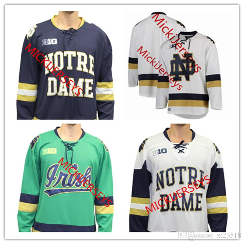 the best attitude d4efa 99c63 Custom Notre Dame Hockey Jersey Jake Evans Cal Petersen Steven Fogarty  Anders Lee Robbie Russo Bryan Rust Riley Sheahan Kyle Palmieri Jersey
