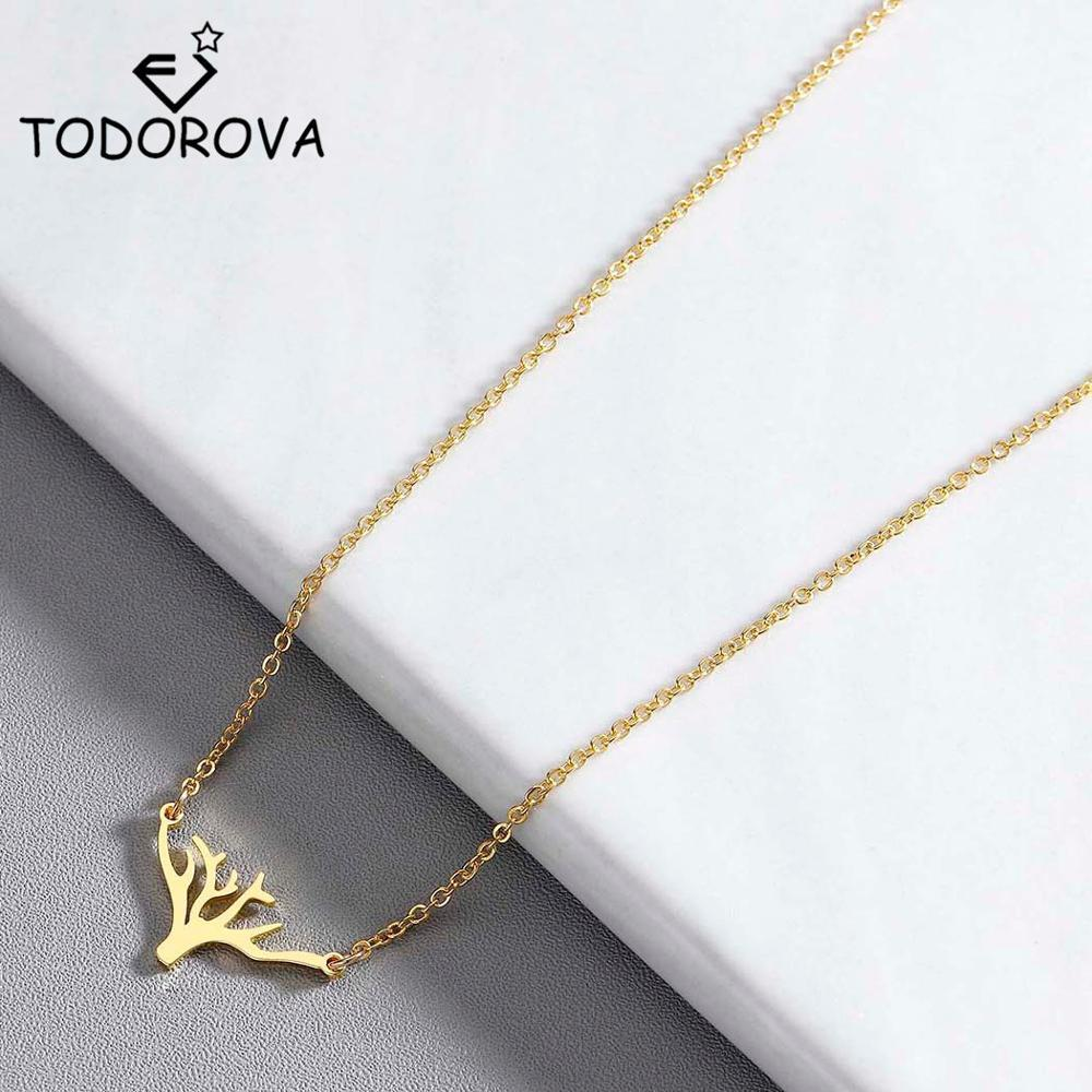 Todorova Simple Plant Tree Pendant Choker Necklace Women Jewelry Fashion Rose Gold Statement Necklaces & Pendants Christmas Gift