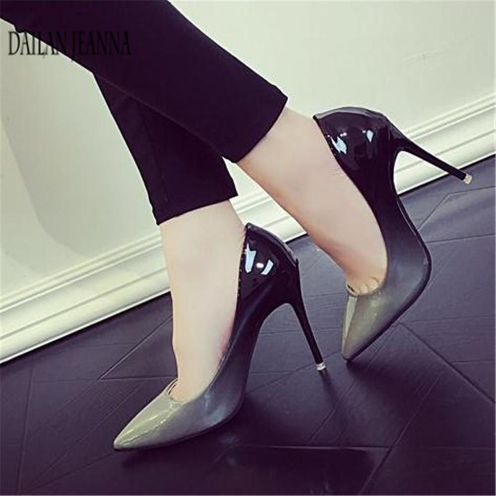 Women s Shoes New Pumps Nightclubs Gradually Change Color Pointed ... 64321523368a