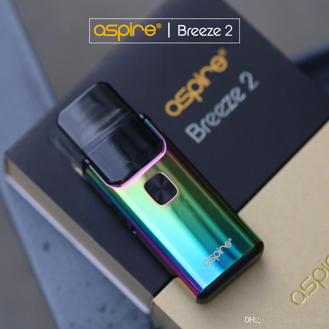 Aspire Breeze 2 AIO Kit with all new Aluminum alloy material 19 mm  thickness for pocketable