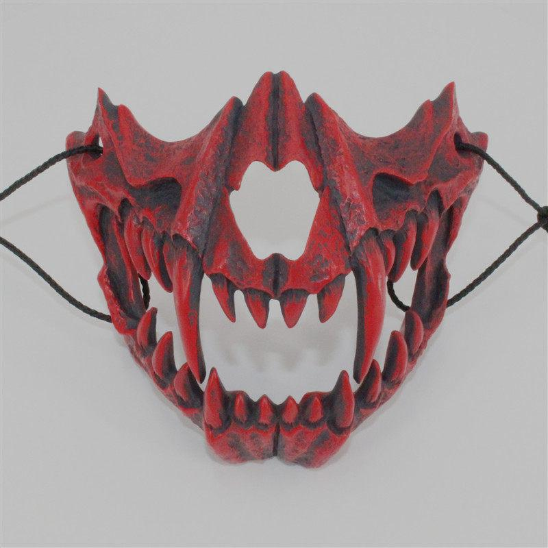 1 pcs Halloween new product: Japanese cang'ao double disguised cos Dragon God tiger night fork resin mask