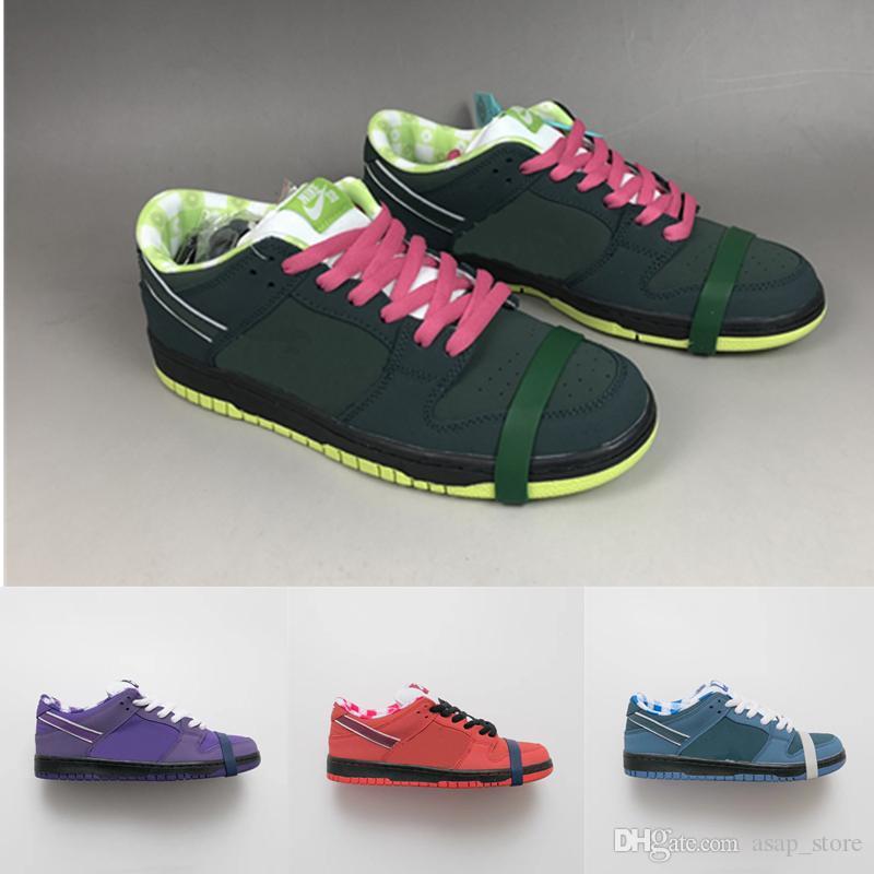 info for 43cb9 a0187 Compre 2019 Nuevos Conceptos Lanzados X SB Dunk Bajo Púrpura Verde Rojo  Azul Lobster Zapatos Para Correr Hombres Mujeres Deportes Zapatillas De  Deporte ...