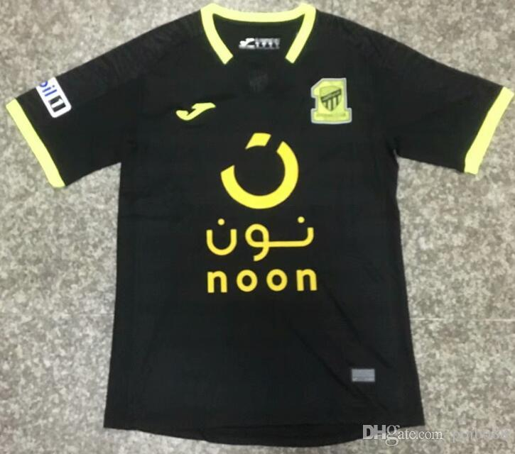 47ea7ee2d9665 2019 Mens Al Ittihad Club Soccer Jersey 18 19 Al Ittihad Negro Camiseta De Fútbol  Personalizado Cualquier Nombre Cualquier Número 100% Bordado Uniforme De ...
