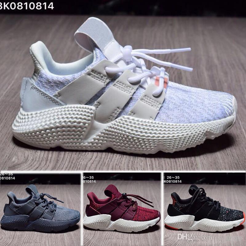 Adidas Prophere EQT EQT Bottes de soutien garçons filles enfants Chaussures de course Noir blanc bleu Vert GS Primeknit gris Core Sneakers Chaussures