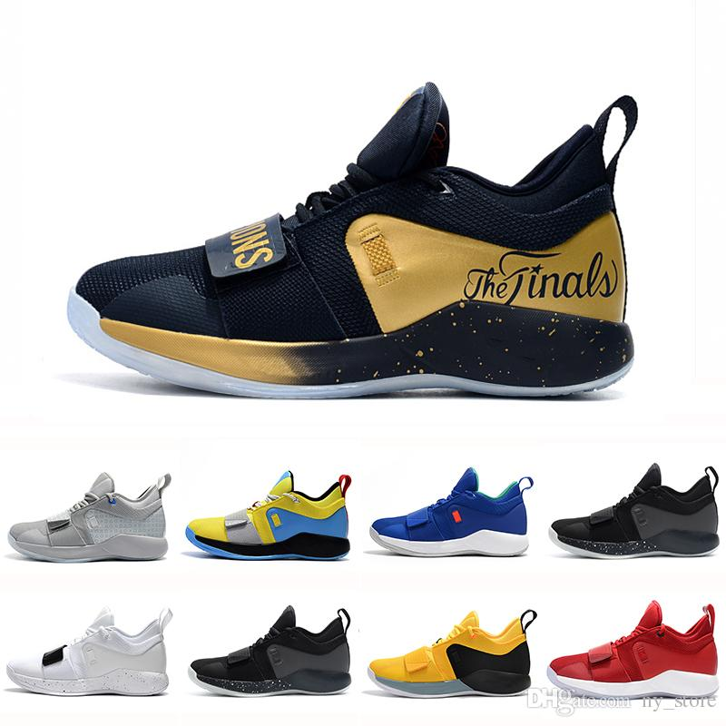 0eb09710e84e6 Gold Champion PG 2.5 University Red Opti Yellow Men Basketball Shoes Racer  Blue White Black Wolf Grey Mens Paul George Sports Sneakers Online Shoes  Cheap ...