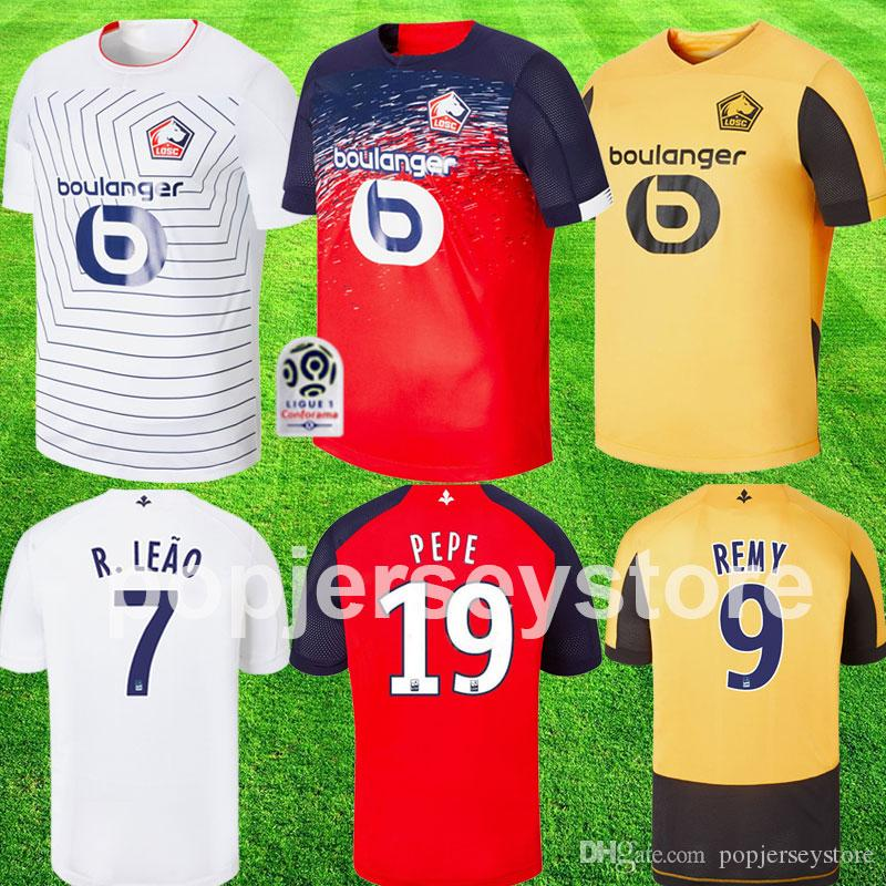 maillot LOSC Lille 2019 2020 maillots de football maillot de foot Lille Olympique Sporting Club maillot de foot PEPE REMY BAMBA
