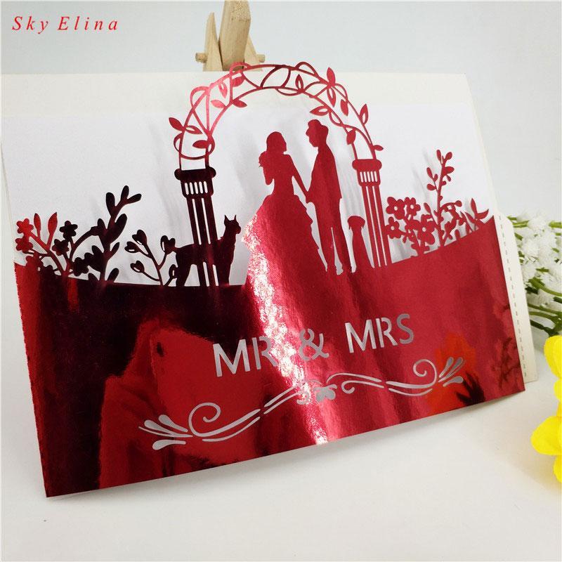 Wedding Invitations High End: European High End Wedding Invitation Card Laser Cut Floral