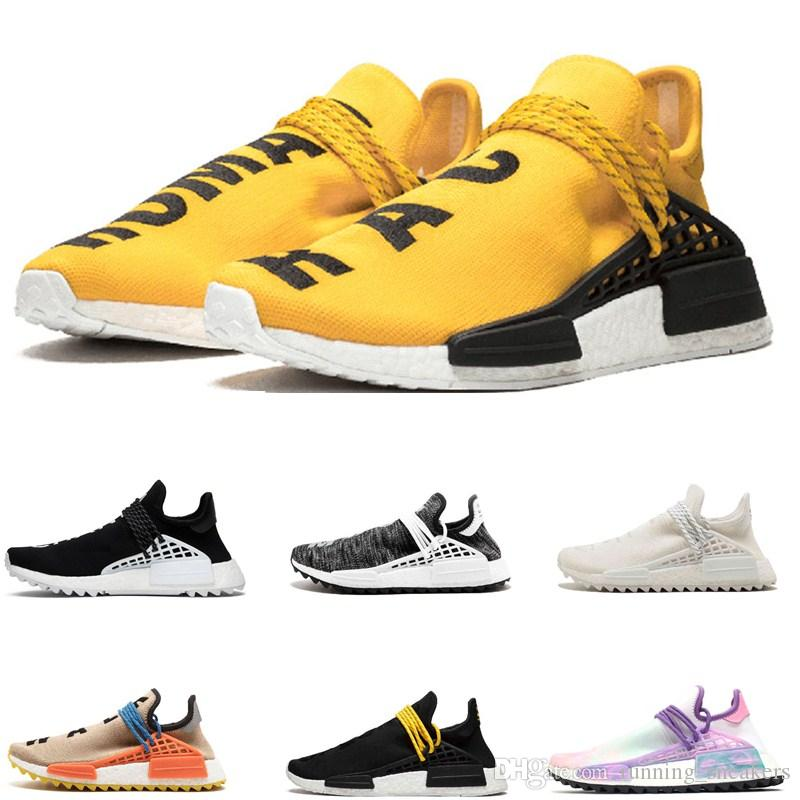 11f9dd4fe2369 2019 2019 Cheap NMD Human Race HU Pharrell Williams X Sports Running Shoes  Mens Designer Shoes Discount Athletic Womens Shoes Man Casual From ...