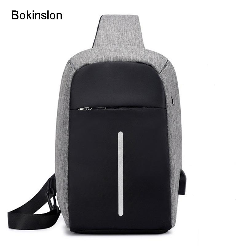 e603a90e8348 Bokinslon Crossbody Bag Man Casual Simple Canvas Men Small Bags Practical  Solid Color Male Travel Bags Multifunction Leather Satchel Ladies Bags From  ...