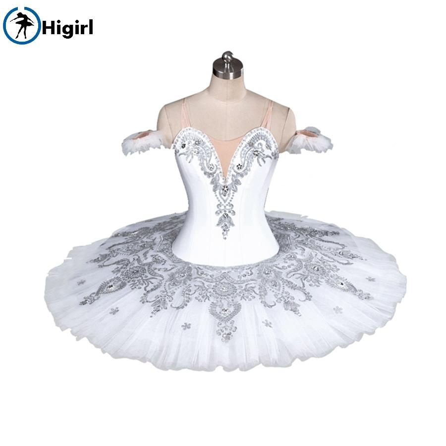86a65b75e Niñas profesional tutu blanco traje de ballet adulto blanco cisne lago  ballet tutu pancake niño balletBT9082A