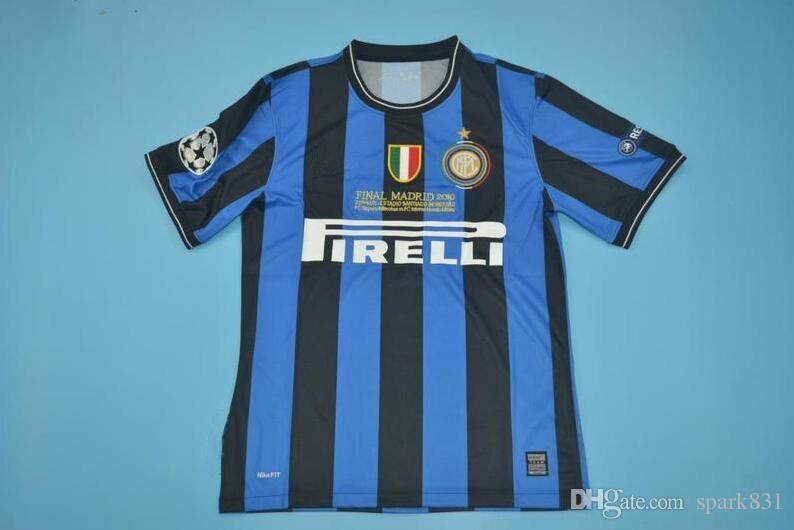 f388ae78610 09 10 Inter Retro Soccer Jersey Milito J.Zanetti 2009 2010 Sneijder ...