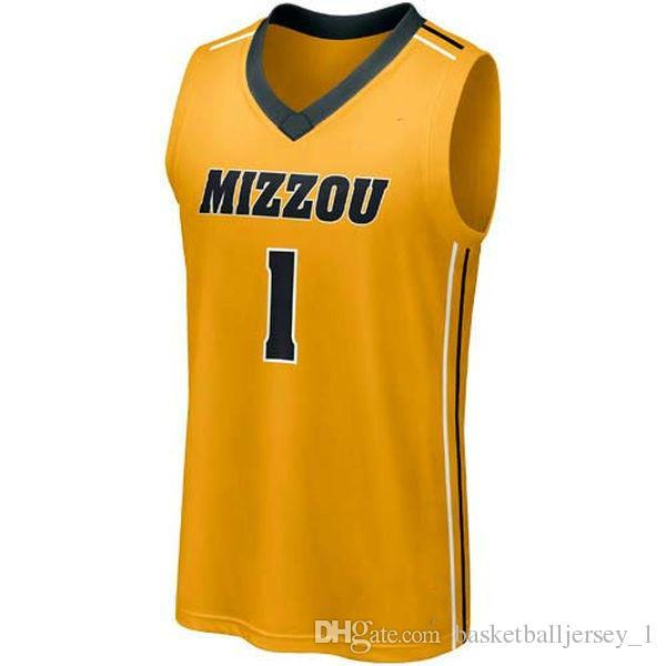 quality design 7c4da 513bd NO.1 Missouri Tigers Men College Basketball Jersey Embroidery Athletic  Outdoor Apparel Mens Sport Jerseys Size S-3XL