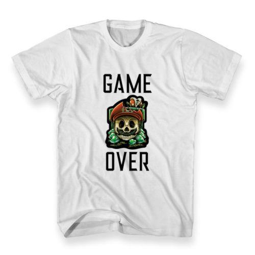 926a84da540b New Custom Game Over Super Mario Skull T Shirt Men'S Size M 3XLFunny Unisex  Casual Gift T Shirts With Awesome Cheap T Shirts From Superstartees, ...