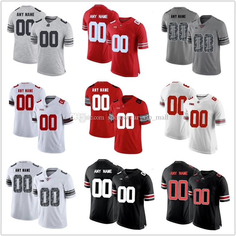 new styles bb66d d6111 Men and YOUTH Ohio State Buckeyes Jersey custom Stitched Personalized WHITE  red black Diamond Quest customized College Football Jerseys
