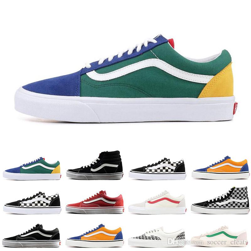 81d3ee99ba4 2019 FEAR OF GOD Vans Old Skool Sk8 Hi Men Women Canvas Sneakers Black White  YACHT CLUB MARSHMALLOW PRIMAR Fashion Skate Casual Shoes From  Soccer cleats